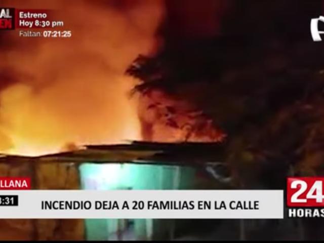 Sullana: voraz incendio deja a más de 20 familias en la calle