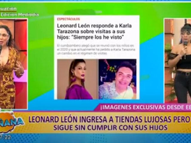 Picantitas del Espectáculo: captan a cantante Leonard León ingresando a lujosas tiendas de EEUU