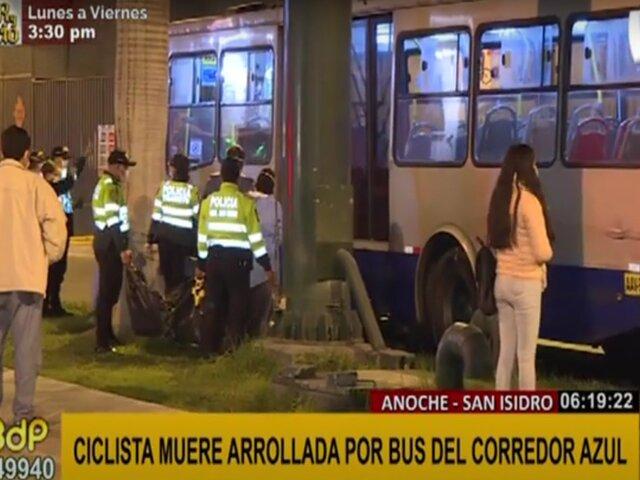 ATU expresó condolencias a familia de ciclista que fue arrollada por bus del corredor azul