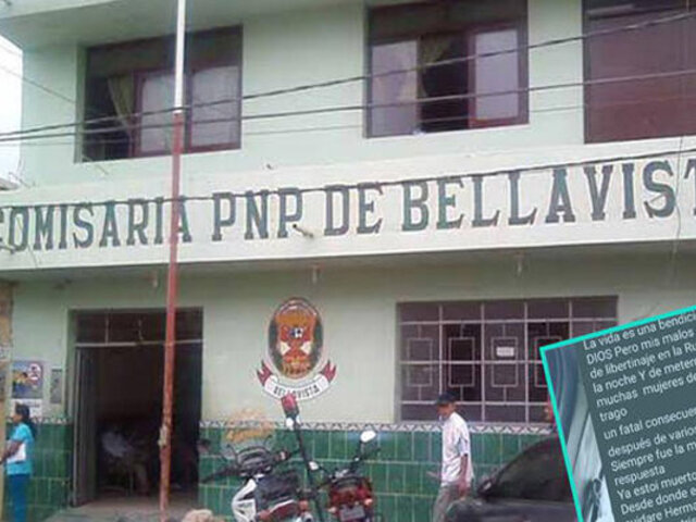 Piura: policía se suicida al interior de comisaría disparándose en la cabeza