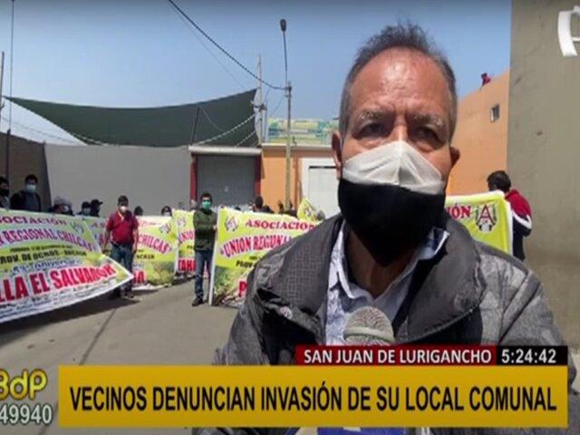 SJL: vecinos denuncian invasión a su local