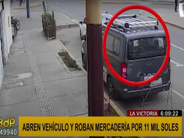 La Victoria: hombre denuncia robo de equipos de su camioneta valorizados en  S/ 11.000