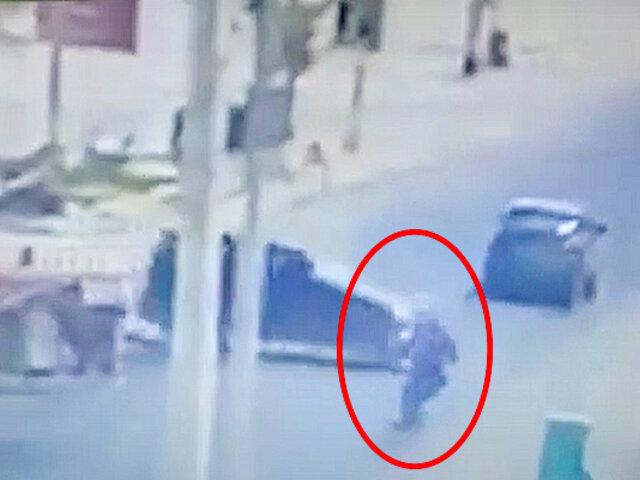 Motociclista termina herido tras impactar contra una camioneta en Piura