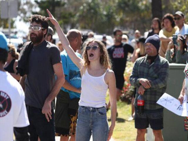 Covid-19: decenas de arrestados dejan nuevas protestas contra el confinamiento en Australia