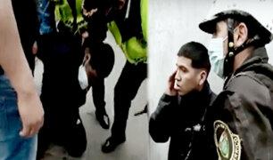 Serenos detienen a raquetero que robó celular de una mujer en Surco