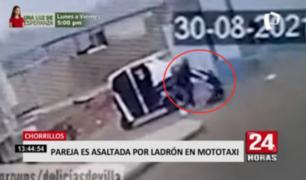 Chorrillos: pareja es asaltada por ladrón en mototaxi