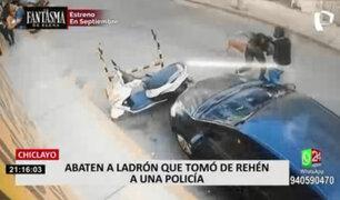 Chiclayo: abaten a delincuente que tomó de rehén a policía durante presentación