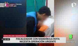 Madre de fiscalizador herido denunció que viene costeados gastos médicos sin ayuda de MML