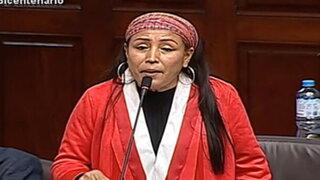 Congreso: presidenta de la Comisión de la Mujer cuestiona denuncia de Patricia Chirinos
