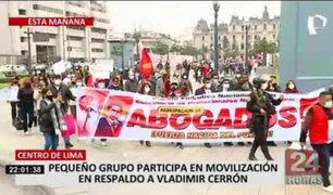 Centro de Lima: ciudadanos participaron en movilización en respaldo a Vladimir Cerrón