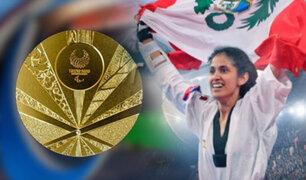Angélica Espinoza gana medalla de oro en Para Taekwondo de Tokio 2020