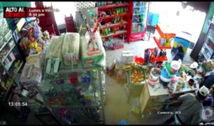 La Libertad: cámaras captan asalto a mano armada en bodega