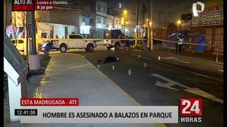 Ate: hombre es asesinado a balazos y su acompañante se encuentra desaparecida