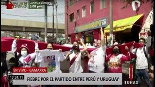 Pasión y alegría: fiebre por el partido Perú vs. Uruguay ya se vive en Gamarra