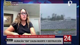 Peruana en EE.UU. da su testimonio tras el huracán Ida