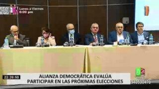 Lanzan plataforma y movimiento político Alianza Democrática