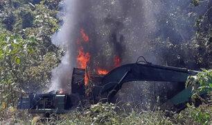 Madre de Dios: destruyen maquinarias e insumos utilizados  para la minería ilegal