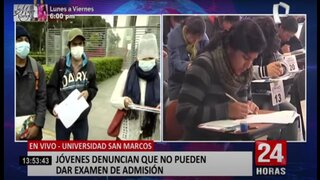 UNMSM: jóvenes denuncian que son impedidos de dar su examen de admisión