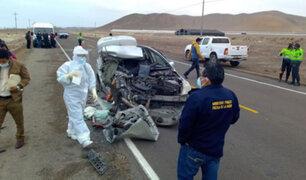 Tacna: choque de auto y tráiler deja dos muertos y dos heridos graves en carretera Costanera