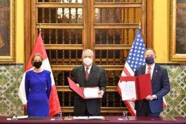 Gobierno firmó convenio con Estados Unidos por 321 millones de dólares