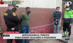 Cercado de Lima: capturan a robacelulares que asaltó a mamá con bebé en brazos