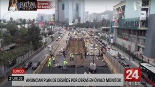 MML: Obras del paso a desnivel en óvalo Monitor Huáscar tienen 26 % de avance