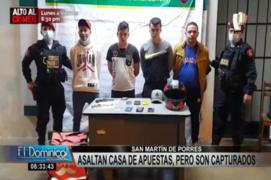 SMP: delincuentes asaltaron casa de apuestas a mano armada, pero fueron capturados