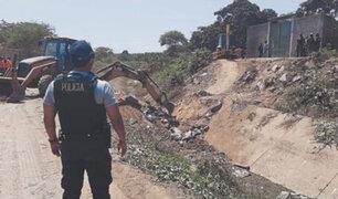 Tumbes: destruye puentes artesanales  que eran utilizados para el ingreso ilegal de migrantes