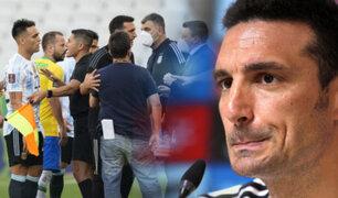 """Scaloni tras el escándalo en Brasil vs. Argentina: """"Yo tengo que defender a mis jugadores si los quieren deportar"""""""