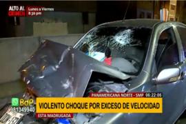 SMP: Violento choque dejó dos heridos