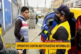 El Agustino: mototaxistas intentan fugar de fiscalizadores
