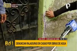 Cercado de Lima: familias denuncian daños en sus casas por obras de agua