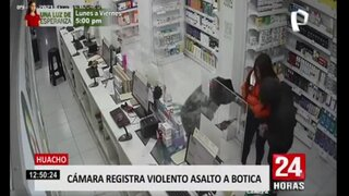 Huacho: cámara de seguridad capta asalto en botica