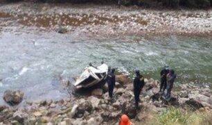 Huánuco: auto cae a abismo y deja tres muertos