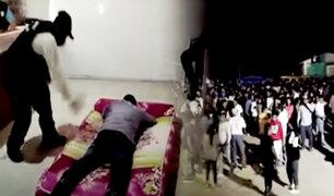 Piura: ronderos castigaron a promotor de fiesta COVID