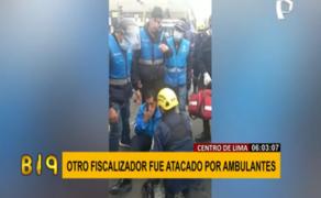 Cercado de Lima: agresiones contra fiscalizadores no acaban