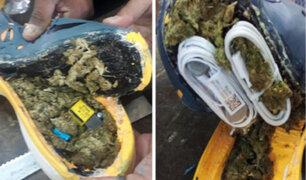 Intervienen mujer que intentó pasar marihuana escondida en zapatillas al penal de Cajamarca