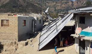 Fuertes vientos causan destrozos en cinco localidades de la región Huánuco