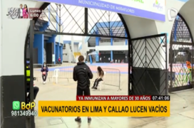 Vacunatorios en Lima y Callao lucen vacíos