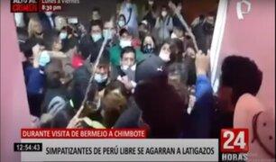 Chimbote: seguidores de PL se agarran a chicotazos durante visita de Bermejo