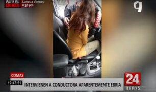Comas: intervienen a conductora aparentemente ebria