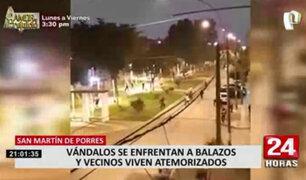 SMP: barristas buscan tomar el control de alameda y se enfrentan a balazos