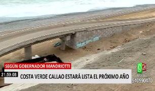 Costa Verde Callao estará listo en 2022, según gobernador Mandriotti