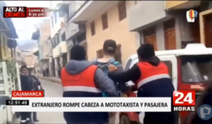 Cajamarca: rondas intervienen a sujeto que le habría roto la cabeza a mototaxista