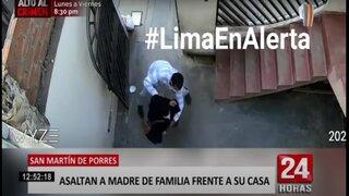 SMP: asaltan a madre de familia en la puerta de su casa