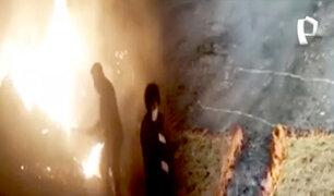 Cusco: voraz incendio forestal amenaza 'Choquequirao'