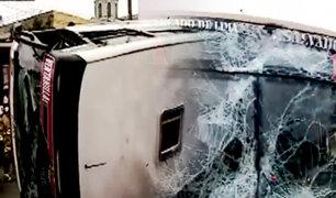 La Victoria: bus ocasiona choque por pasarse luz roja y deja varios heridos