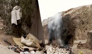 Los Olivos: denuncian huaca abandonada convertida en vertedero de basura