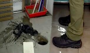 Rímac: ducto de desagüe colapsa y vecinos exigen a Sedapal que solucione el problema