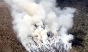 Cusco: incendio forestal en Choquequirao está por cumplir un mes y sigue fuera de control